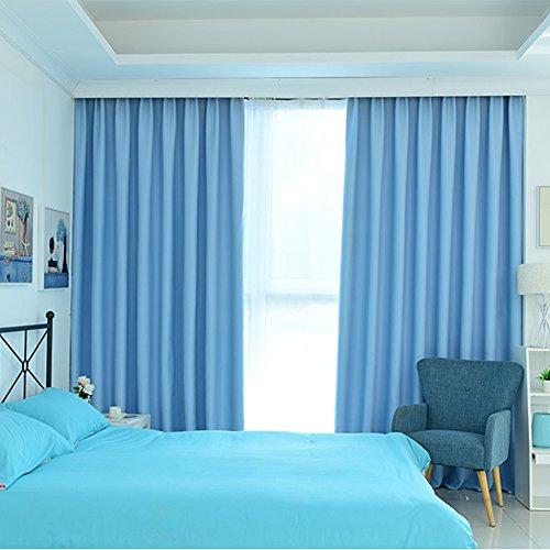 Waing, schaduwende jaloezieën, effen, hoge precisie, polyester, ademend, geschikt voor slaapkamer, 140 x 160 cm, blauw, 2 stuks