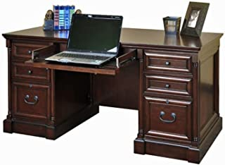 Mount View Compact Executive Desk Cobblestone Cherry Dimensions: 60