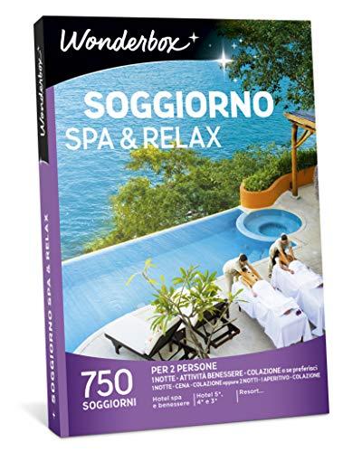 Wonderbox - Cofanetto Regalo per mamma - Soggiorno Spa & Relax - Valido 3 Anni e 3 Mesi