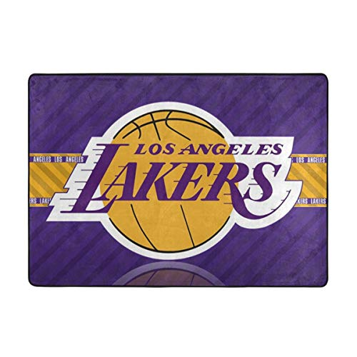 Dopy Los Angeles Basketball Fans Large Area Rugs for Living Room Bedroom Kids Area Rugs Baby Rugs for Play Area Rugs 5x7 Under 50