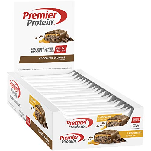 Premier Protein Bar Deluxe Chocolate Brownie 18x50g - High Protein Low Sugar + Kohlenhydratreduziert