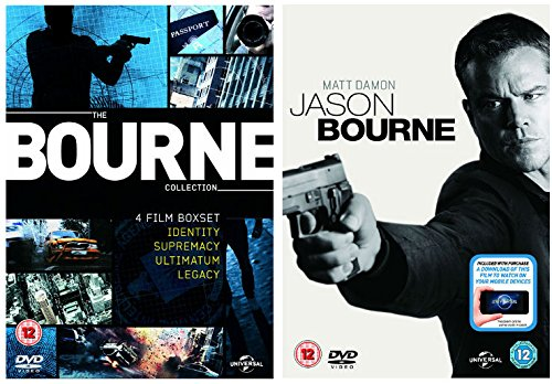 Jason Bourne Movie 1 - 5 Ultimate DVD Collection: Bourne Identity / Bourne Supremacy / Bourne Ultimatum / Bourne Legacy / Jason Bourne + Extras