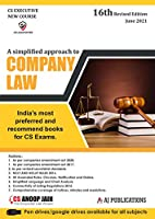 A Simplified Approach to Company Law for CS Exams - 16/edition, 2021
