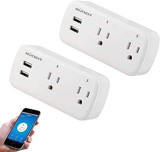 Glückluz Enchufe Inteligente con USB,Expansión de Enchufe Inteligente Alexa Mini Outlets,Smart Plug,Contacto WiFi Toma de ...
