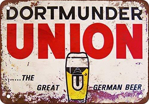 SIGNCHAT Dortmunder Union Cerveza - Letrero de Metal (20,3 x 30,5 cm)