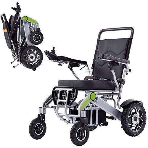 ZDYLM-Y Elektrischer Rollstuhl Faltbar, Tragbarer Rollstuhl für Mobilitätshilfe, 360 ° -Fernbedienung, verstellbare Armlehne, All Terrain