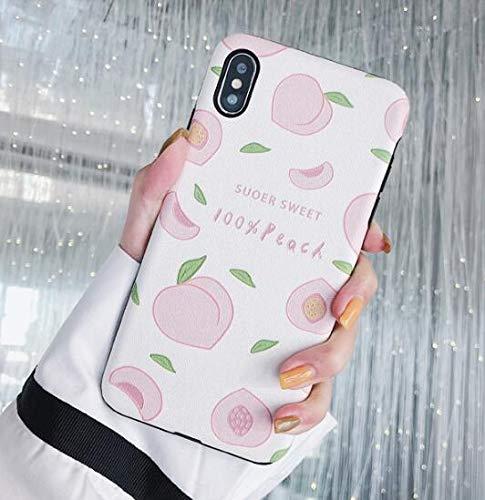 Fruta melocotón Aguacate TPU Cáscara Funda de Silicona Blanda Carcasas y Fundas Compatible con iPhone 6 7 8 Plus X XS XR 11 Pro MAX (iPhone 11 Pro MAX, 2)