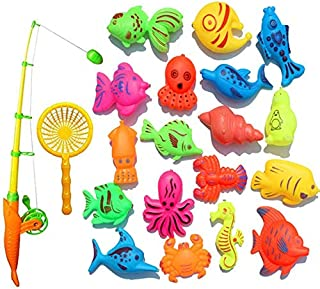 MYLOVE Creative Baby Bathing Toy 22-piece Magnetic Fishing Toy Set Bath Toys High Quality Exquisite