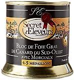 Secret d'Eleveurs Bloc de Foie Gras de Canard du Sud Ouest avec Morceaux 200 g