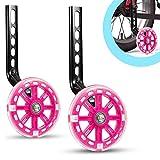 ZSFLZS Trainingsräder für Kinder Fahrrad Stabilisator Stützräder für 12 14 16 18 20 Zoll Fahrrad (Rosa)