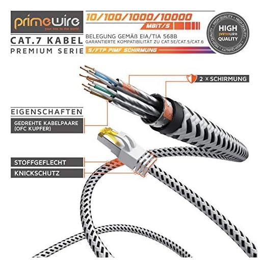 CSL - Cable de Red Gigabit Ethernet LAN, 0,25 m, Revestimiento de algodón, 10000 Mbit s, Cable de Pares Trenzados, Cable… 4
