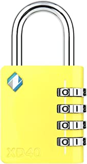 [ZARKER XD40] 4 Digit Combination Lock for Gym,Sports&Family use Locker (Yellow)