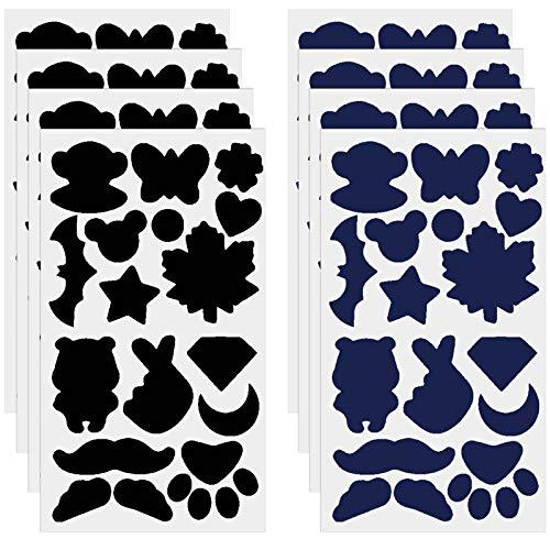 Jinlaili 8 Blatt Patches zum Aufbügeln, Selbstklebende Bügelflicken, Reparatur Patch für Daunenjacke, Flicken zum Aufbügeln, Cartoons Aufbügelflicken, Reparatur Patch Kit für Kleidung Taschen Zelt
