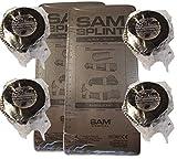 Black SAM Splint Kit - 36' Flat SAM Splints & 2' x 5yds Black Cohesive Wraps (2 Splint/4 Wraps)