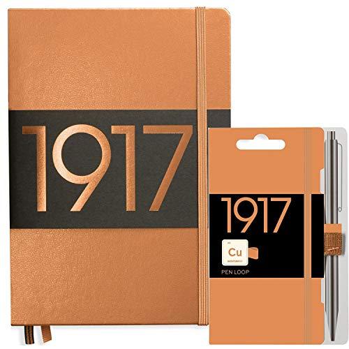Notizbuch A5 dotted von Leuchtturm1917 in kupfer | komplett mit penloop/Stiftehalter von Leuchtturm 1917 | Kladde (notebook) auch perfekt als Tagebuch oder Bullet Journal
