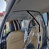 保護シールド 車用 絶縁フィルム 透明 飛沫防止 パーティション 飛沫感染対策 防曇 タクシー 隔離カーテン 衝立 柵 車向け 防護 花粉症グッズ 家族 自動車 営業車 SUV カー用品 粘着フィルム PVC 仕切り板 穴付き 2タイプ 1.4m*2m(黒い粘着テープ付き)