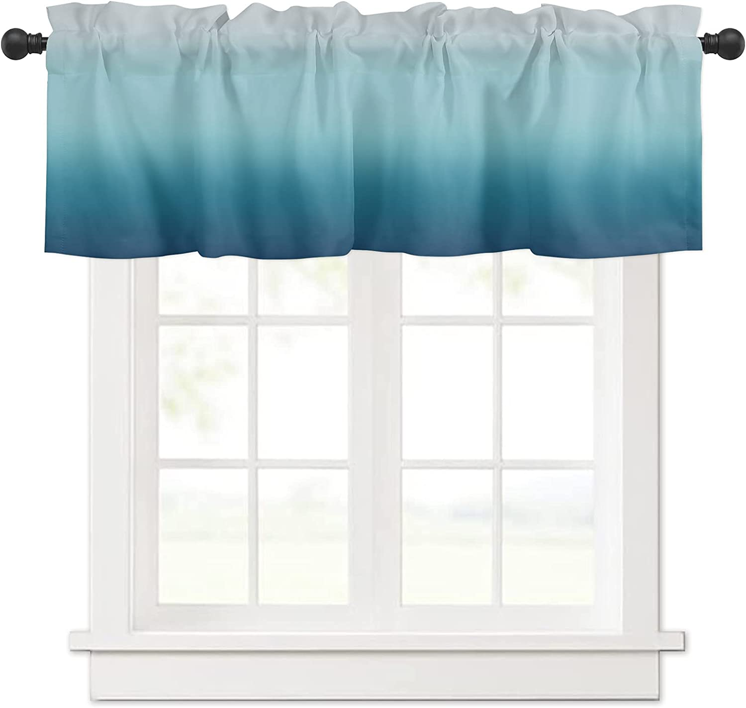 Ombre Blue and Green Gradient Curtain for Treat Valances Max 66% OFF Windows Sale special price