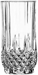 Cristal D'Arques Long Champ Highball Tumbler Glass,280 ML,Set Of 6