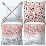 UPDD Set of 4 Peach Skin Cashmere Throw Pillow Cushion...