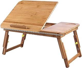 F/ácil de organizar Cama Lazy Tabla port/átil Mesa Plegable Lift Desk extra/íble Sof/á Mesa Mesita de luz Regulable en Altura y /ángulo de la Mesa
