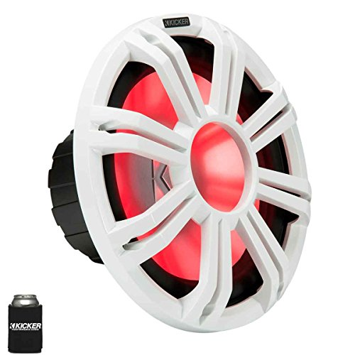 KICKER KMF124 12' Marine Subwoofer with LED White Grill 4 Ohm for Free...
