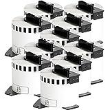 10x compatible Etiquetas continuas DK22205 blanco para Brother impresora de etiqueta QL1050 / QL1060 / QL500, QL550, QL560, QL570, QL580, QL650, QL700, QL710, QL720 / 62mm x 30.48m