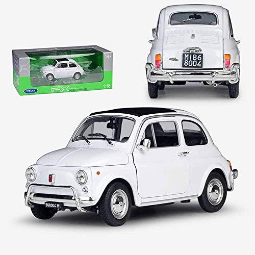 Weaston Nuova Fiat 500 1:18 Modelo de aleación de Coche de fundición a presión de Metal Miniauto Roadster colección de Adultos Adornos Decoraciones Juguetes para niños Regalos