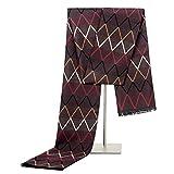 Hombres Bufandas Wraps Hombres de negocios ocasional salvaje bufandas de la manera otoño e invierno suave cepillado WarmScarf Wave bufanda caliente del patrón Hombres con el Regalo ( Color : Coffee )