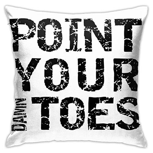 Not Applicable Cushion Cover Point Your Damn Toes Hogar Decorativo Oficina Fundas De Cojines Sofá De Sala De Estar 45X45Cm Dormitorio Cuadrado Regalos De Cumpleaños Sofá Funda De Almohada Dormit