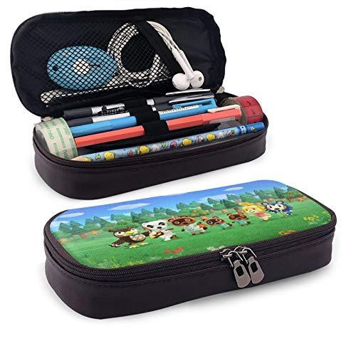 ANI-mal CROS-Sing - Bolsa para bolígrafos con cremallera para escuela, papelería, oficina, estuche para lápices para niños y niñas