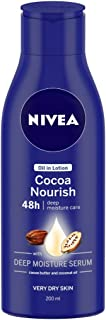 NIVEA Body Lotion, Oil in Lotion Cocoa Nourish, For Very Dry Skin, 120ml