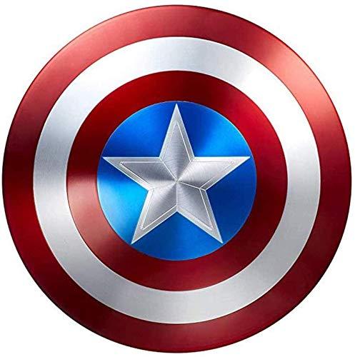 HLWJXS Capitán América Escudo de Metal 1: 1 Modelo de aleación de Mano Vengadores Edición de película de Mano Disfraz de superhéroe Disfraz Accesorios para Juegos de rol Juguete Capitán América Esc