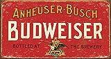 Desperate Enterprises Budweiser - Weathered Tin Sign, 16' W x 8.5' H