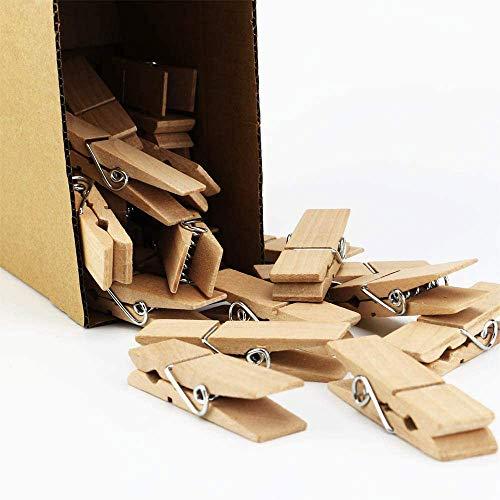 EasyBravo 40 pinzas de madera grandes, 7,2 cm de largo, 1,8 cm de ancho, resistentes y resistentes.
