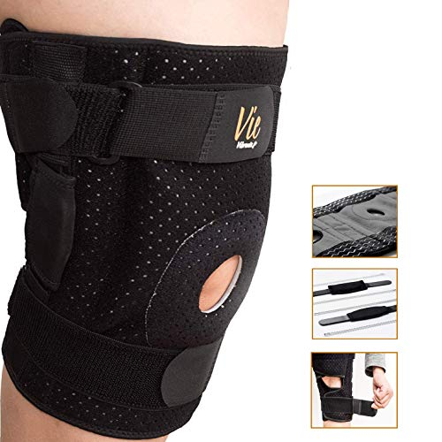 Hinged Knee Brace Plus Size – Newly Engineered Knee Braces with Flexibility, Extra Supportive,...