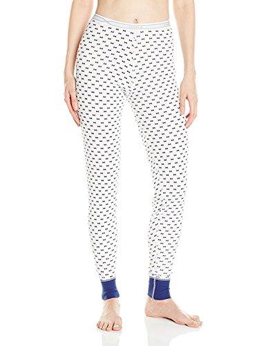 Hanes Plus Size Women's X-Temp Thermal Pant, Bow Print, Medium