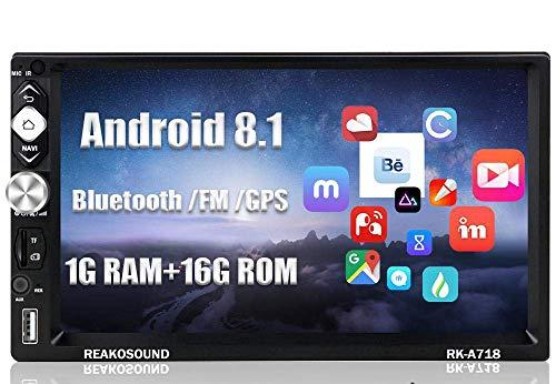 Radio Coche 2 DIN Android - Hodozzy Estéreo para Coche Compatible con WiFi/Bluetooth/Mirrorlink/FM/AUX/USB/TF, Autoradio Bluetooth con Pantalla Táctil de 7' / GPS/Cámara de Marcha Atrás