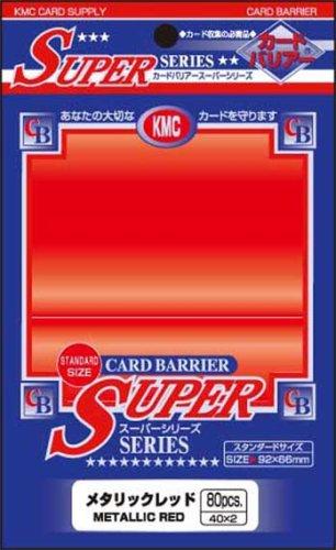 Barrier Super Card Sleeves (80 Piece), Metallic Red, 92 x 66mm