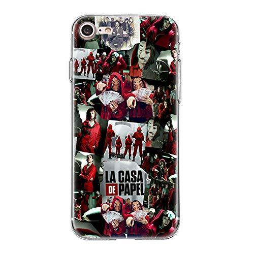 Giorno TV La Casa De Papel TPU Phone Case Cover For Funda iPhone Case Soft Shell 05 For Funda iPhone 7 Plus (Funda iPhone 8 Plus)
