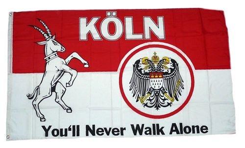 Fahne / Flagge Köln You´ll never walk alone 90 x 150 cm