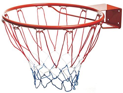 Mondo Toys - Cerchio da Basket/Pallacanestro per Bambini e adulti - Cerchio da Basket da esterno con anello in metallo - Diametro 45 cm / 18 inch - Kit rete e bulloni di fissaggio INCLUSI - 18299