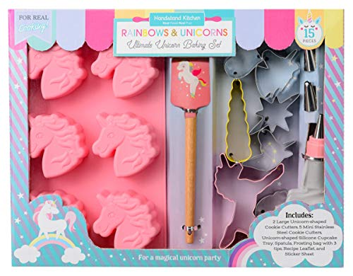 Handstand Kitchen Rainbows and Unicorns 15-piece Ultimate Baking Party with Recipes for Kids