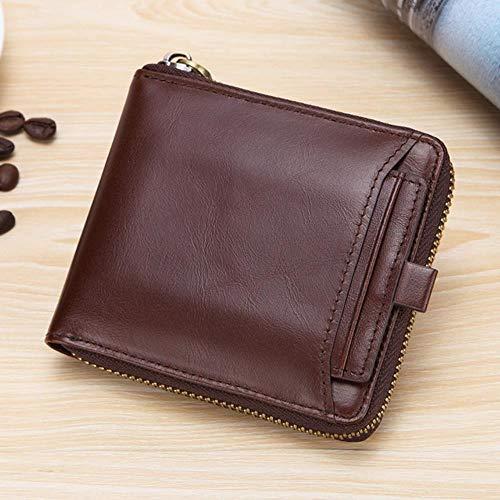 Ksde leer casual mannen portemonnee lederen rits portemonnee portemonnee vintage