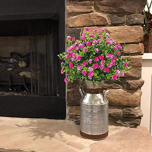 1 Bündel Künstlicher Plastik Blumenstrauß für Haupt Dekorations Pflanzenwand Garten Deko - 8