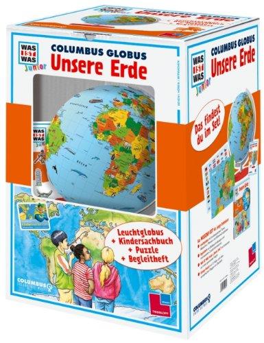 "WAS IST WAS Junior Columbus Globus \""Unsere Erde\"""