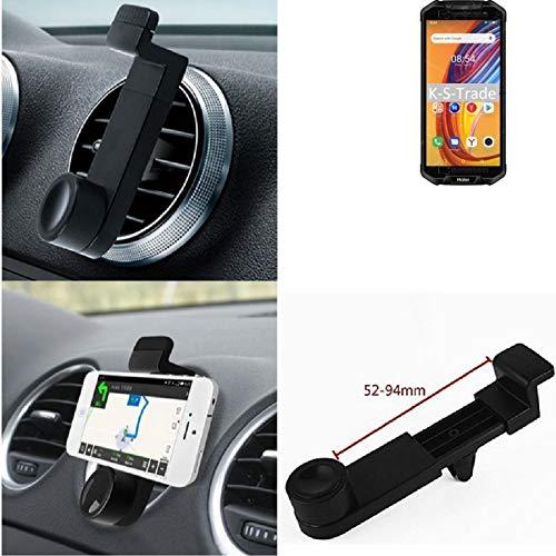 K-S-Trade Lüftungs Halterung Kompatibel Mit Haier Titan T3 KFZ-Halterung Autohalterung Smartphonehalterung Lüftungsgitter Lüftungs Schlitze Schwarz