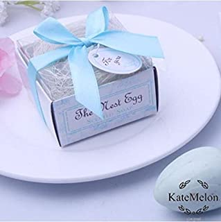 cute rabbit 24pcs The Nest Egg Scented Soap for Wedding & Baby Shower Favors- Blue