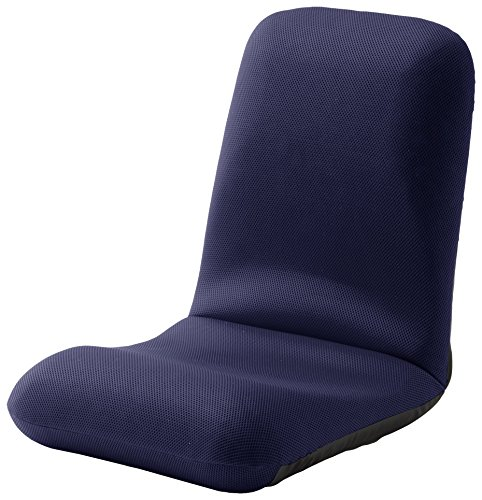 セルタン 日本製 高反発 座椅子 和楽チェア Lサイズ メッシュブルー 背筋ピン 背部リクライニング A453a-505BL