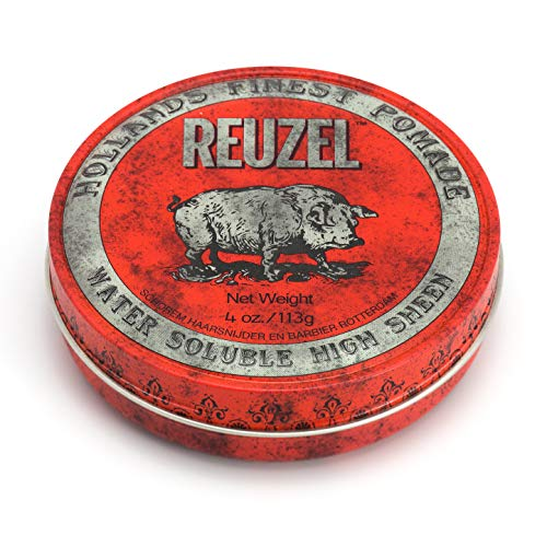 REUZEL Red Pomade, High Sheen, Water Soluble, 4 oz.
