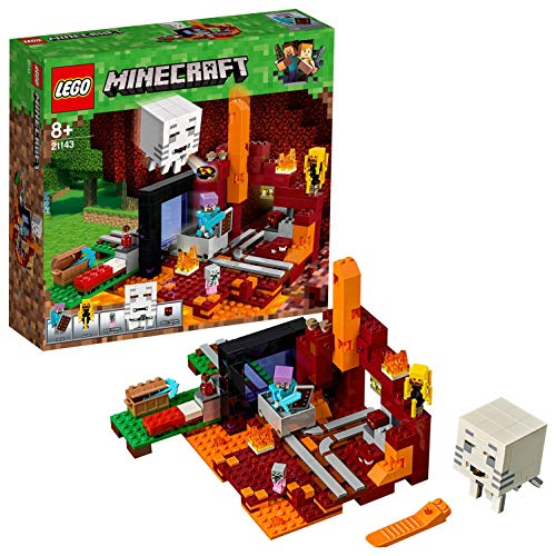 LEGO- Minecraft Il Portale del Nether, Multicolore, 21143